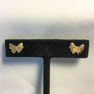 10k Gold Butterfly Earrings